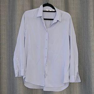 Uniqlo Rayon Light Blue shirt
